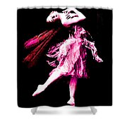 Ballerina Wings Pink Portrait Art Shower Curtain