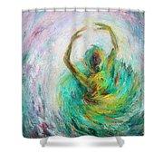 Ballerina Shower Curtain by Xueling Zou