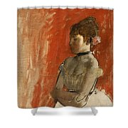 Ballet Dancer With Arms Crossed Shower Curtain