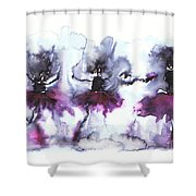 Ballet Dancers Shower Curtain
