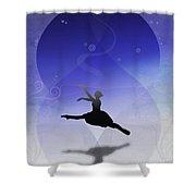 Ballet In Solitude  Shower Curtain