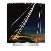 Ballistic Missile Paths Shower Curtain