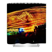Ballons Ride At Night Shower Curtain
