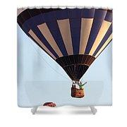 Balloon-2shotwave-7393 Shower Curtain
