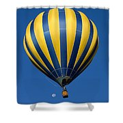 Balloon And The Moon Shower Curtain