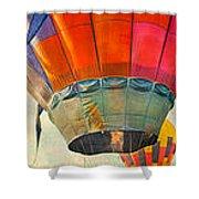 Balloon Banner Shower Curtain