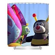 Balloon Bug Talk Shower Curtain