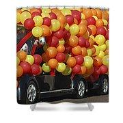 Balloon Car Shower Curtain