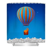 Balloon Elephant Shower Curtain by Gianfranco Weiss