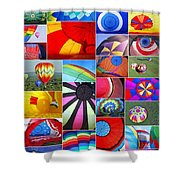 Balloon Fantasy Collage Shower Curtain