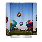 Balloon Festival Panels Shower Curtain