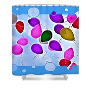 Balloon Frenzy Shower Curtain
