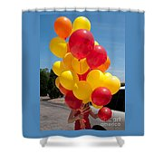 Balloon Girl Shower Curtain