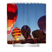 Balloon-glow-7783 Shower Curtain