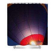 Balloon-glowpurple-7710 Shower Curtain