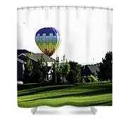 Balloon House Shower Curtain