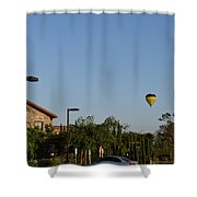 Balloon Over Lorimar Shower Curtain