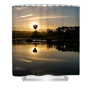 Balloon Over Snohomish River Shower Curtain