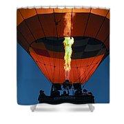 Balloon Ride At Dawn Shower Curtain