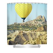 Balloon Ride Over Goreme National Park Shower Curtain