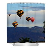 Balloon Rise Shower Curtain