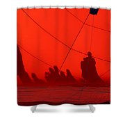 Balloon Shadows Shower Curtain