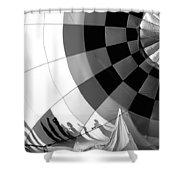 Balloon Shadows Shower Curtain