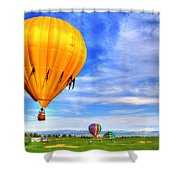 Balloonfest 9 Shower Curtain by Scott Mahon