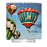 Balloons Away Shower Curtain