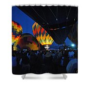 Balloons In The Crowd Shower Curtain