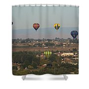 Balloons Over The Valley Shower Curtain