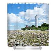 Baltic Sea Lighthouse Shower Curtain
