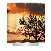 Baltic Sunset In The South Of Sweden Shower Curtain