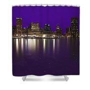 Baltimore Bleeds Purple Believe Shower Curtain