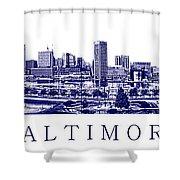 Baltimore Blueprint Shower Curtain