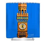 Baltimore Clock Tower Shower Curtain