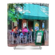 Baltimore - Happy Hour In Fells Point Shower Curtain