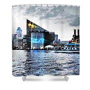 Baltimore - Harborplace - Inner Harbor At Night  Shower Curtain