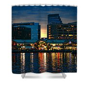 Baltimore Harborplace Light Street Pavilion Shower Curtain