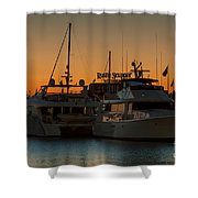 Baltimore Inner Harbor Marina At Dawn I Shower Curtain