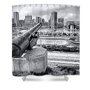 Baltimore Inner Harbor Skyline Shower Curtain