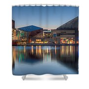 Baltimore National Aquarium At Dawn I Shower Curtain