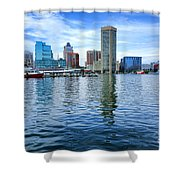 Baltimore On The Water Shower Curtain