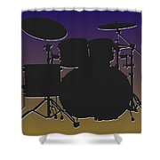 Baltimore Ravens Drum Set Shower Curtain