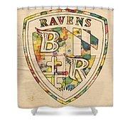 Baltimore Ravens Logo Art Shower Curtain