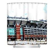 Baltimore Ravens - M And T Bank Stadium Shower Curtain