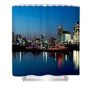 Baltimore Skyline At Dusk Shower Curtain