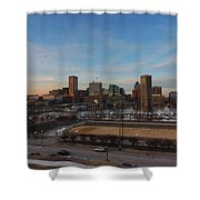Baltimore Skyline At Sunset From Federal Hill Shower Curtain