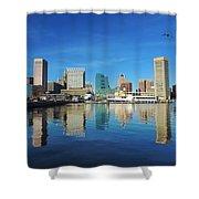 Baltimore Skyline From The Innner Harbor Shower Curtain