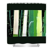 Bamboo Abstraction Shower Curtain